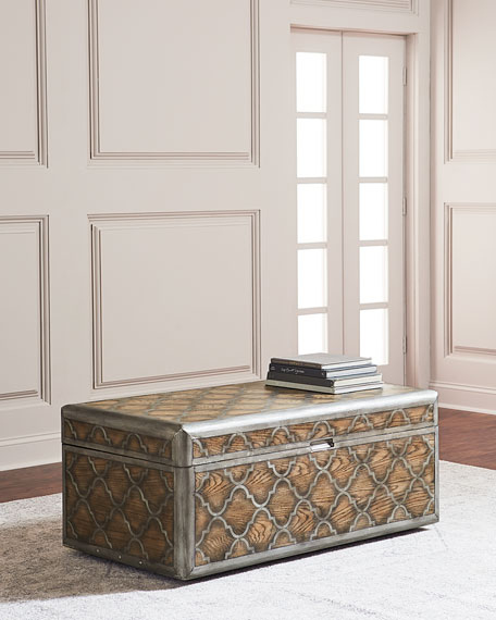 Image 1 of 3: Herman Trunk-Style Coffee Table