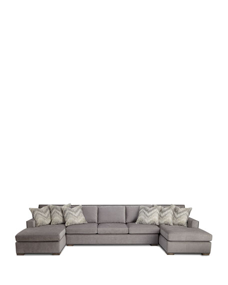 Massoud Raphael Double Chaise Sectional