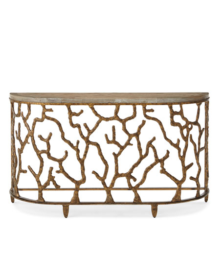 Image 2 of 3: Hooker Furniture Atlantic Golden Console Table