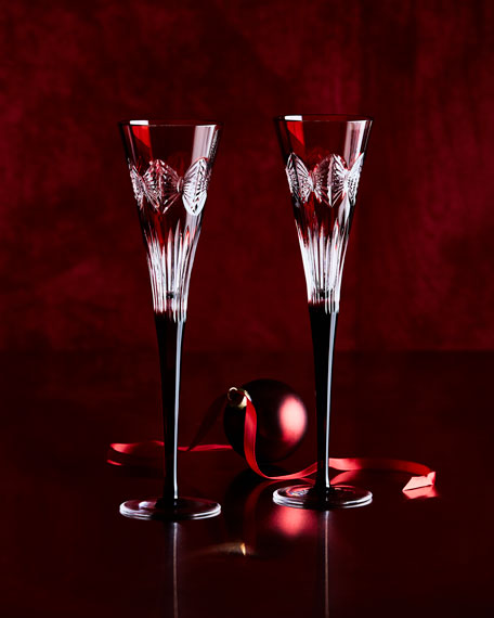 Waterford Crystal Times Square Serenity Flutes, Set of