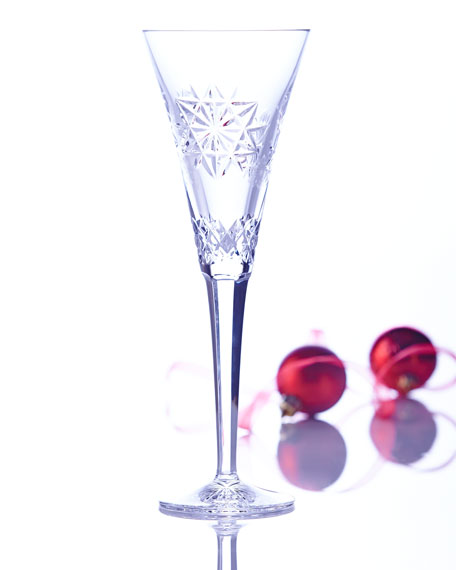 Snowflake Wishes Friendship Champagne Flute, Clear