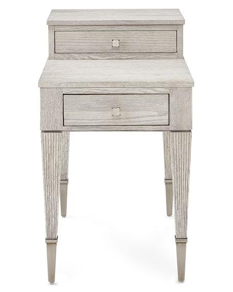 Bernhardt Damonica White Oak Two-Drawer Side Table