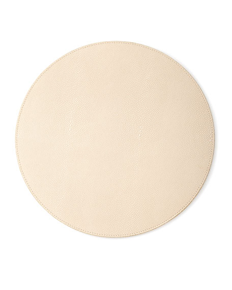Shagreen Placemat, Ivory