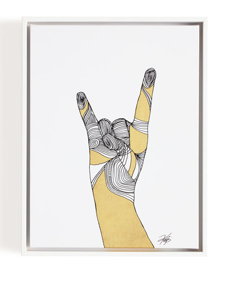 """Sign Language IV"" Giclee on Canvas Wall Art"