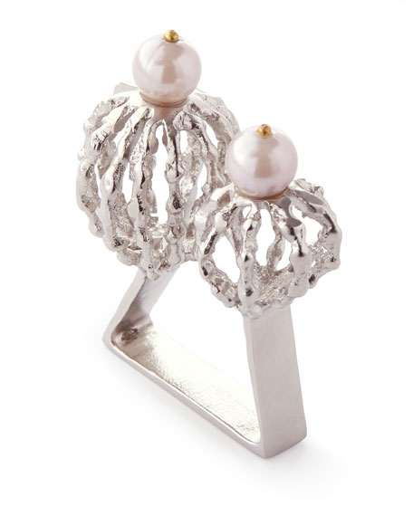 Tangier Napkin Ring, Silver