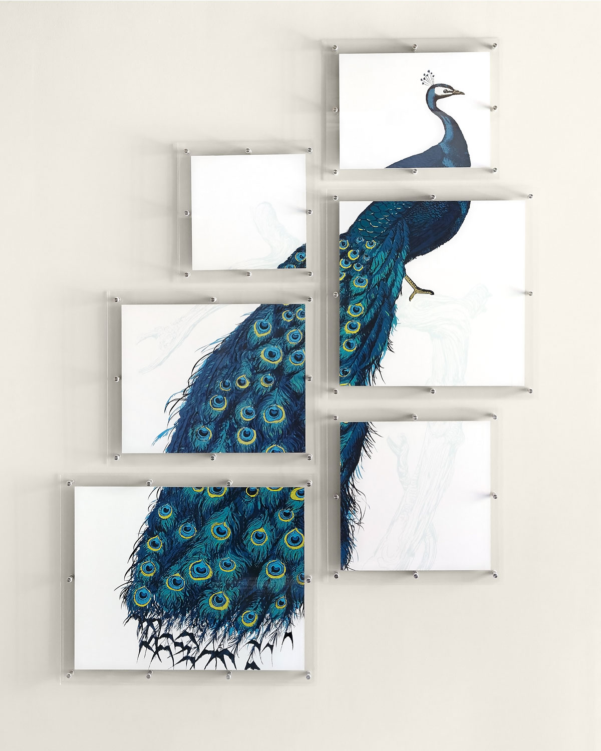 Peacock Wall Art Inspiration Art Painted Wall Decor  Neiman Marcus Inspiration Design