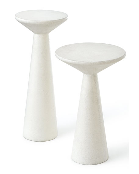Pair of Napoli Pedestal Side Tables