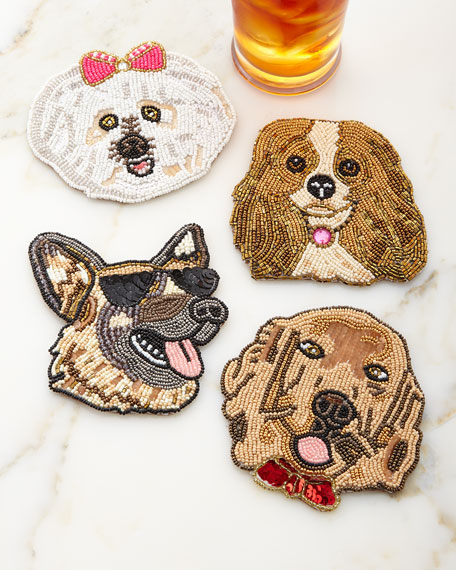 Cute dog coasters