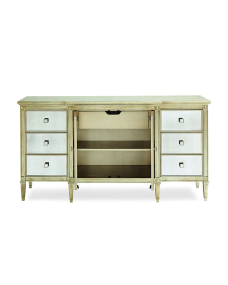 Emilee Antiqued Mirrored Dresser