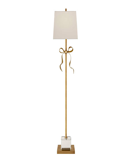 Ellery Cream Grosgrain Bow Floor Lamp
