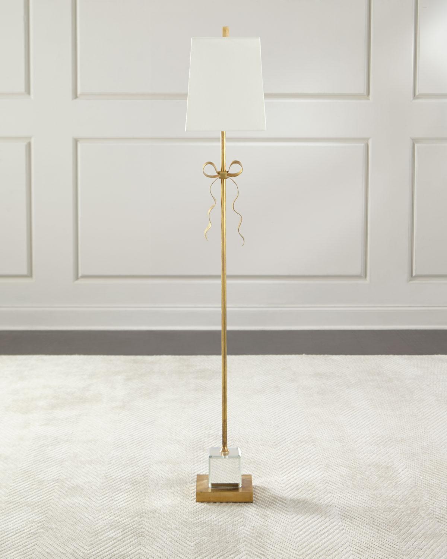 Kate spade new york ellery cream grosgrain bow floor lamp neiman ellery cream grosgrain bow floor lamp aloadofball Images