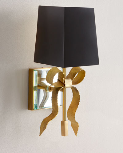 Small Ellery Grosgrain Bow Sconce