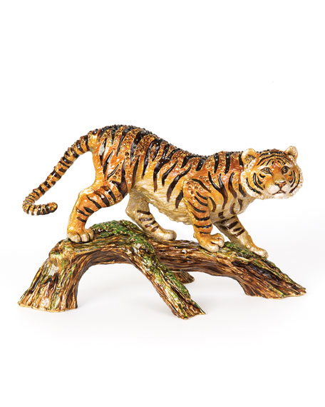 Jay Strongwater Tiger on Branch Figurine