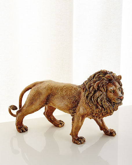 Jay Strongwater Stalking Lion Figurine