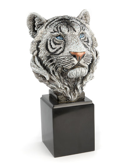 Jay Strongwater Tiger Head Objet