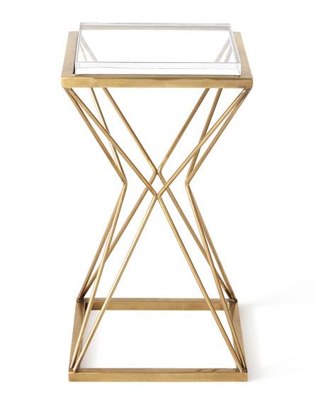 Geometric Brass Martini Table