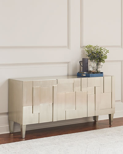 Maxx Silver Clad Entertainment Console