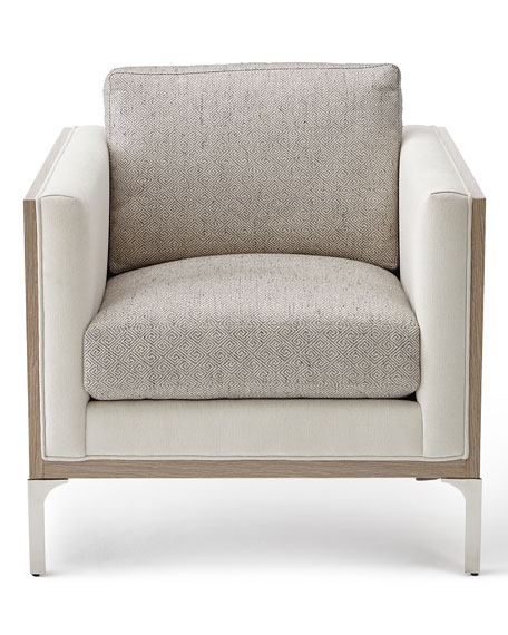 Image 2 of 3: Bernhardt Mead Stainless Steel Trim Accent Chair