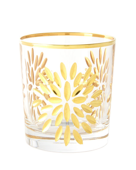 Exploded Petals Double Old-Fashioneds, Set of 4