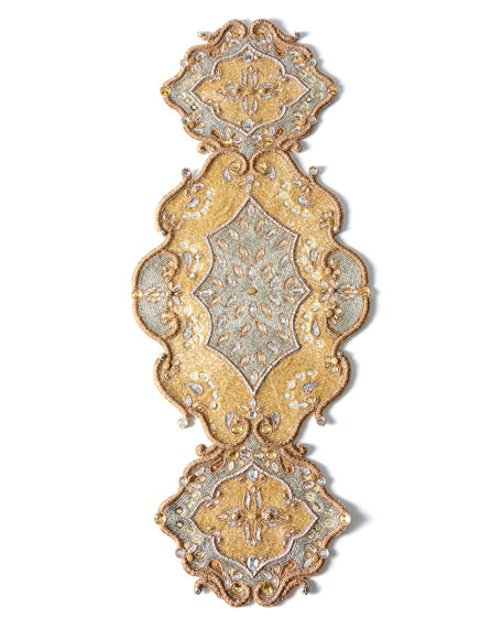 Kim Seybert Metallic Baroque Table Runner