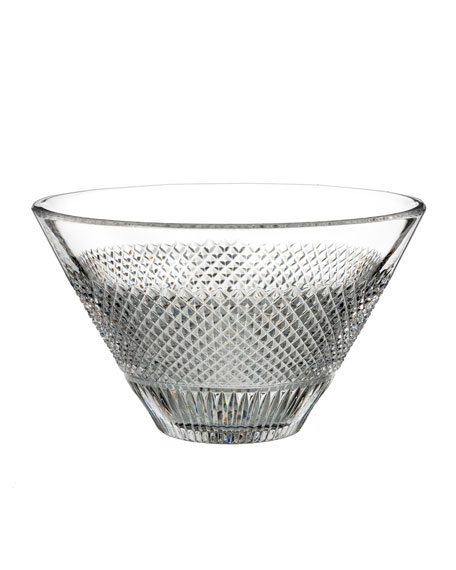 Image 1 of 1: Diamond Line Crystal Bowl - 8""