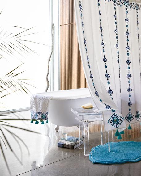 Aloka Blue Bath Towel