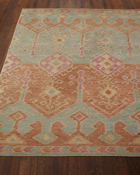 "Gem Hand-Tufted Rug, Spice Teal, 7'9"" x 9'9"""