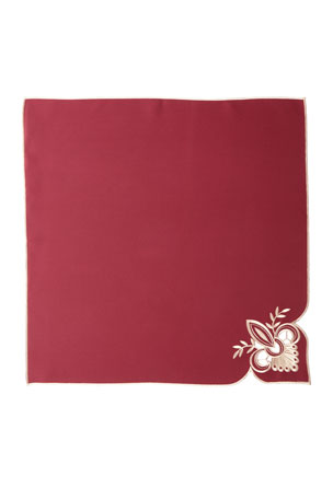 "Sferra Ellino 22""Sq. Napkins, Set of 4"