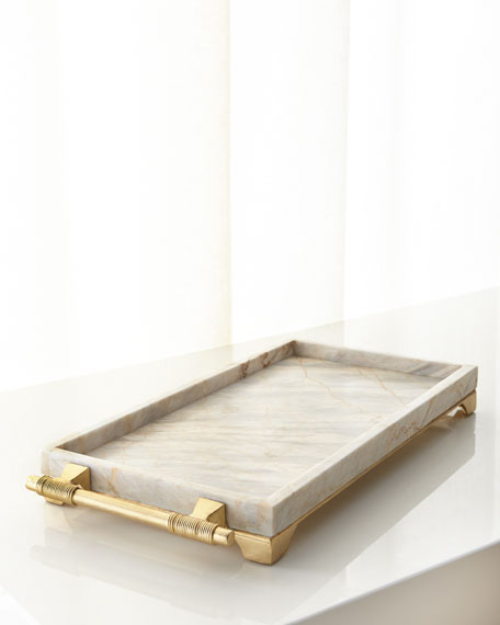 Janice Minor Century Marble Rectangular Tray