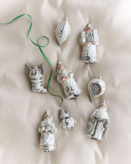 Bibelot Crystal-Embellished Glass Ornament