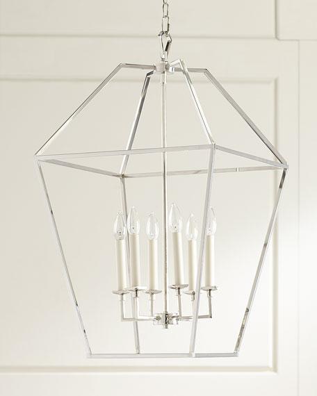 6-Light Cage Chandelier