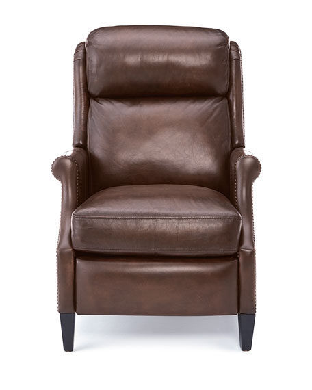 Image 2 of 5: Bernhardt Robin Leather Powered Recliner Chair