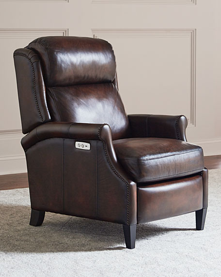 Image 1 of 5: Bernhardt Robin Leather Powered Recliner Chair