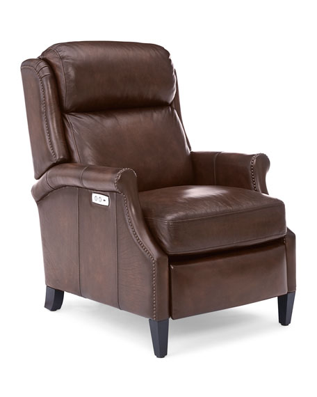 Image 5 of 5: Bernhardt Robin Leather Powered Recliner Chair