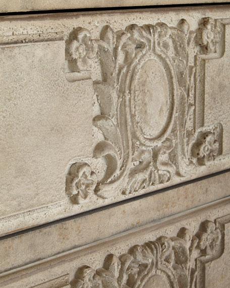Ember Carved Floral Chest