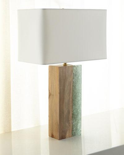 Venus Birch Wood Table Lamp