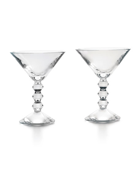 Baccarat Vega Martini Glasses, Set of Two