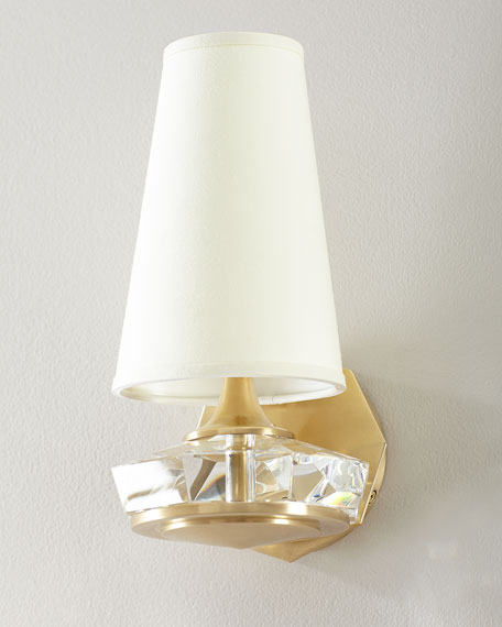 Image 1 of 2: Thomas O'Brien Santo Small Faceted Sconce