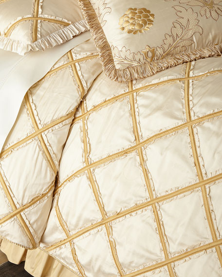 Ruffled Diamond Queen Duvet Cover