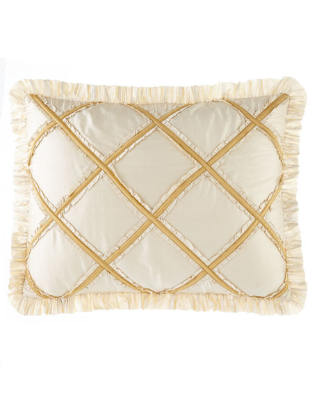 Austin Horn Classics Ruffled Diamond King Sham