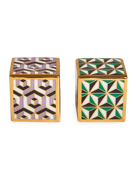Jonathan Adler Versailles Salt and Pepper Cube Set