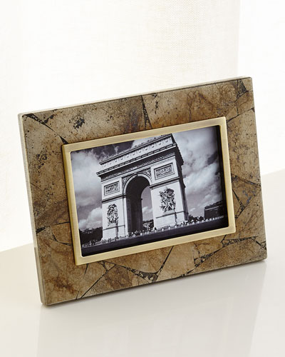 Pyrite Stone Picture Frame, 4x6