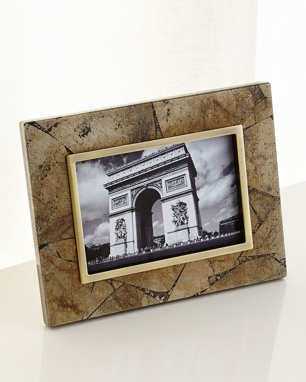 Kendra Scott Pyrite Stone Picture Frame 4x6 Neiman Marcus