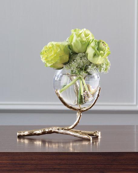 Twig Brass Three-Vase Holder