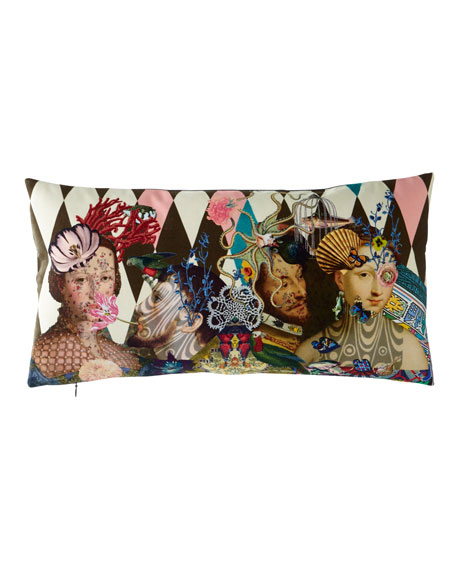 """Designers Guild Le Curieux Argile Pillow, 24"""" x 12"""""""