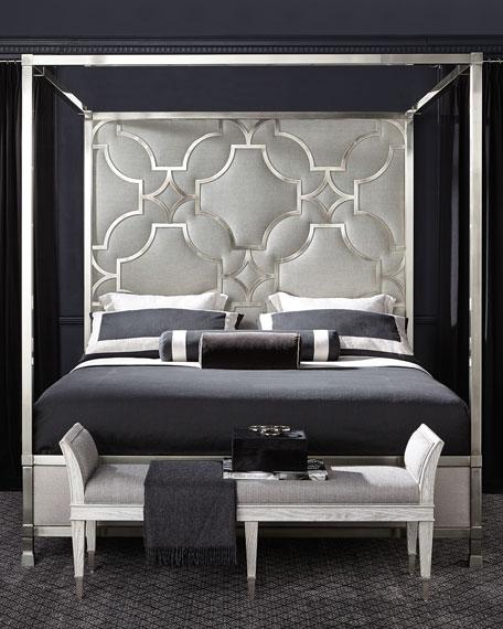 Bernhardt Zoe Stainless King Canopy Bed