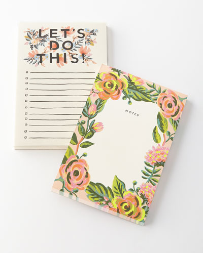 Lets Do This and Jardin Notepads, Set of 2