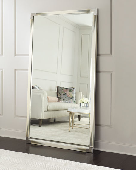 Estelle Faux-Horn Floor Mirror