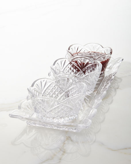 4-Piece Crystal Relish Server