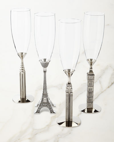 Traveler Champagne Glasses, Set of 4